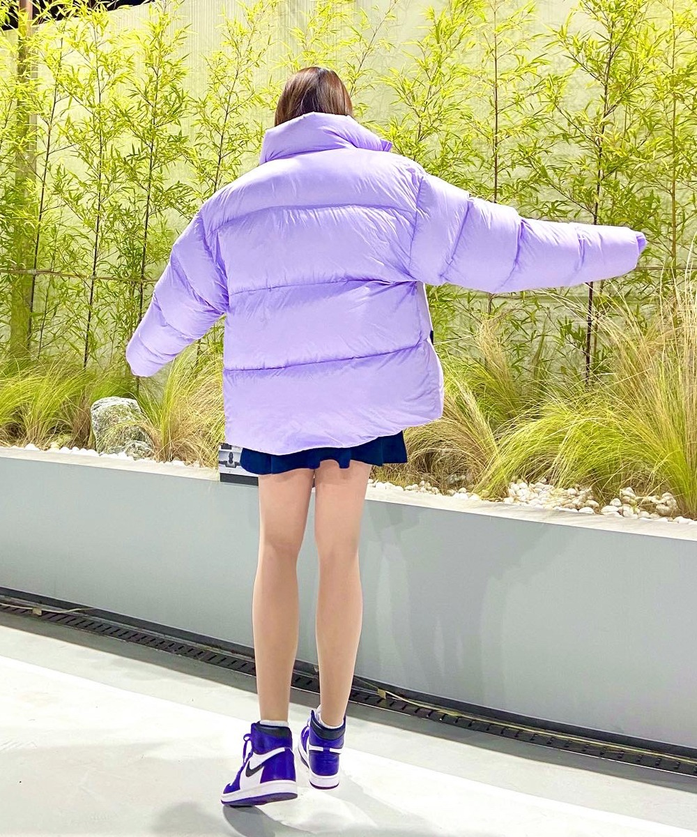 dope Duck Down Short Padding Jumper (Purple)