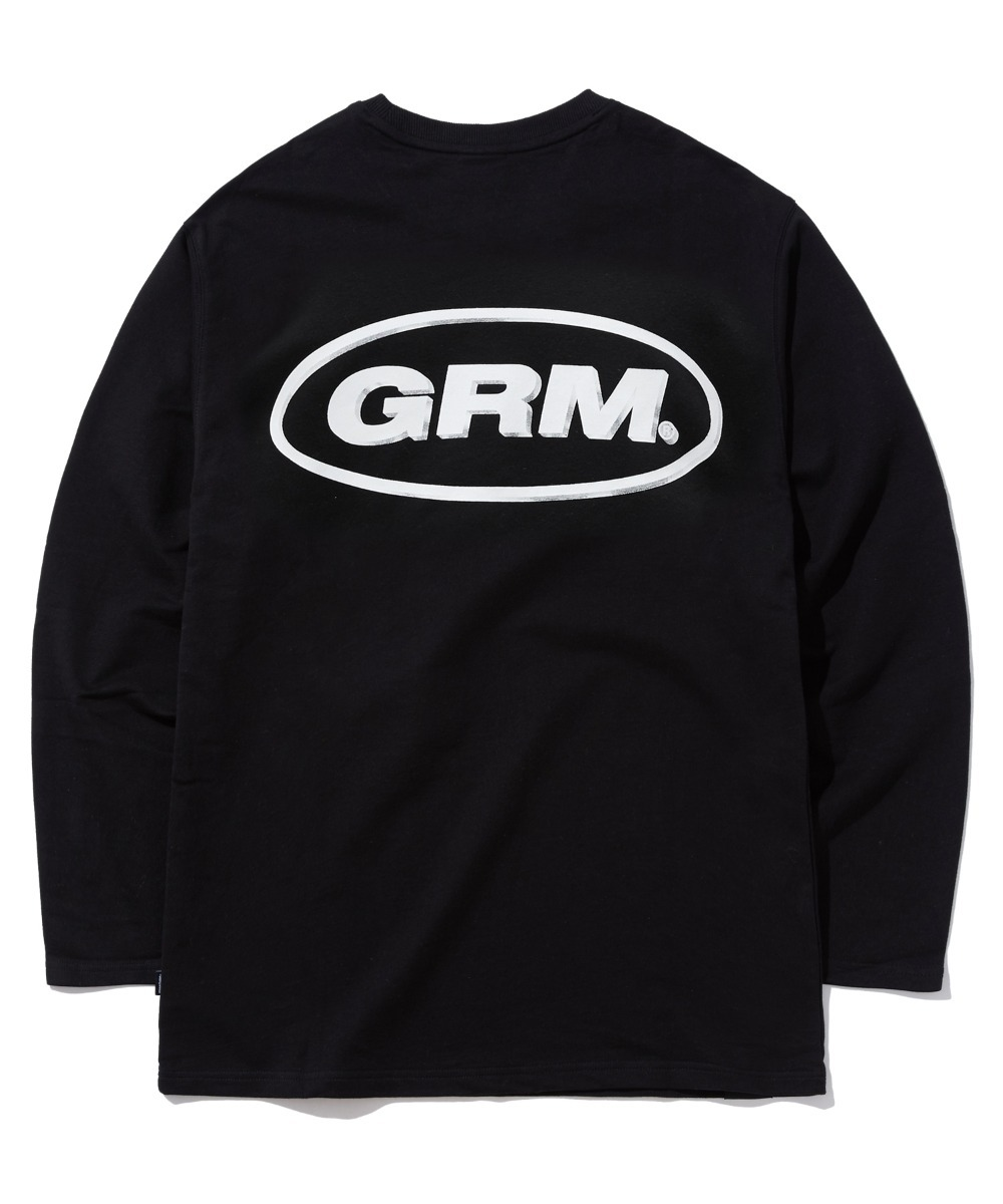 THREE DIMENSIONAL LOGO LONG SLEEVE T-SHIRTS (BLACK) [GLT604H33BKA]