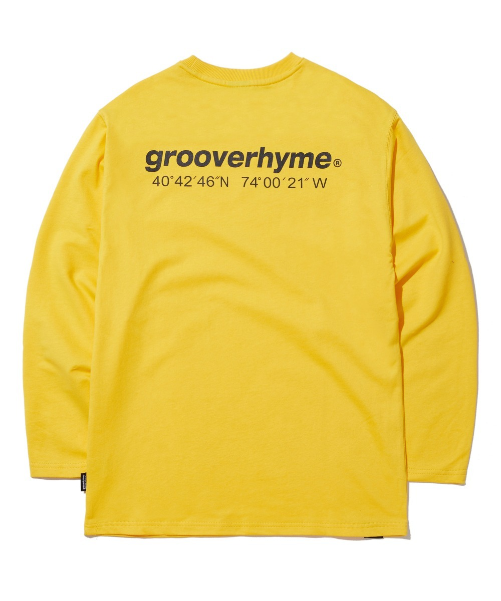 NYC LOCATION LONG SLEEVE T-SHIRTS (YELLOW) [GLT601H33YE]