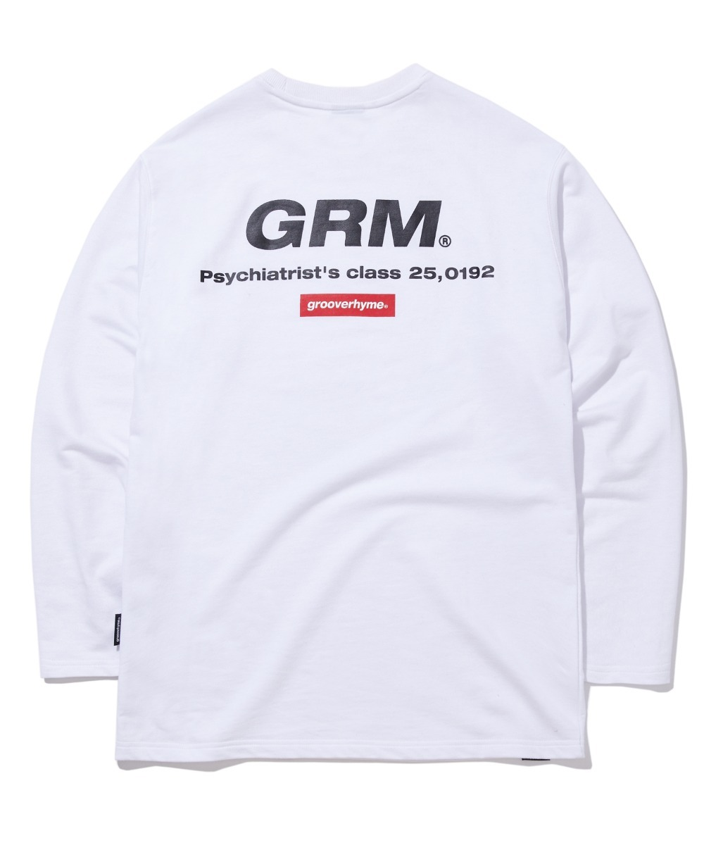 RED TETRAGON LOGO LONG SLEEVE T-SHIRTS (WHITE) [GLT605H33WHA]