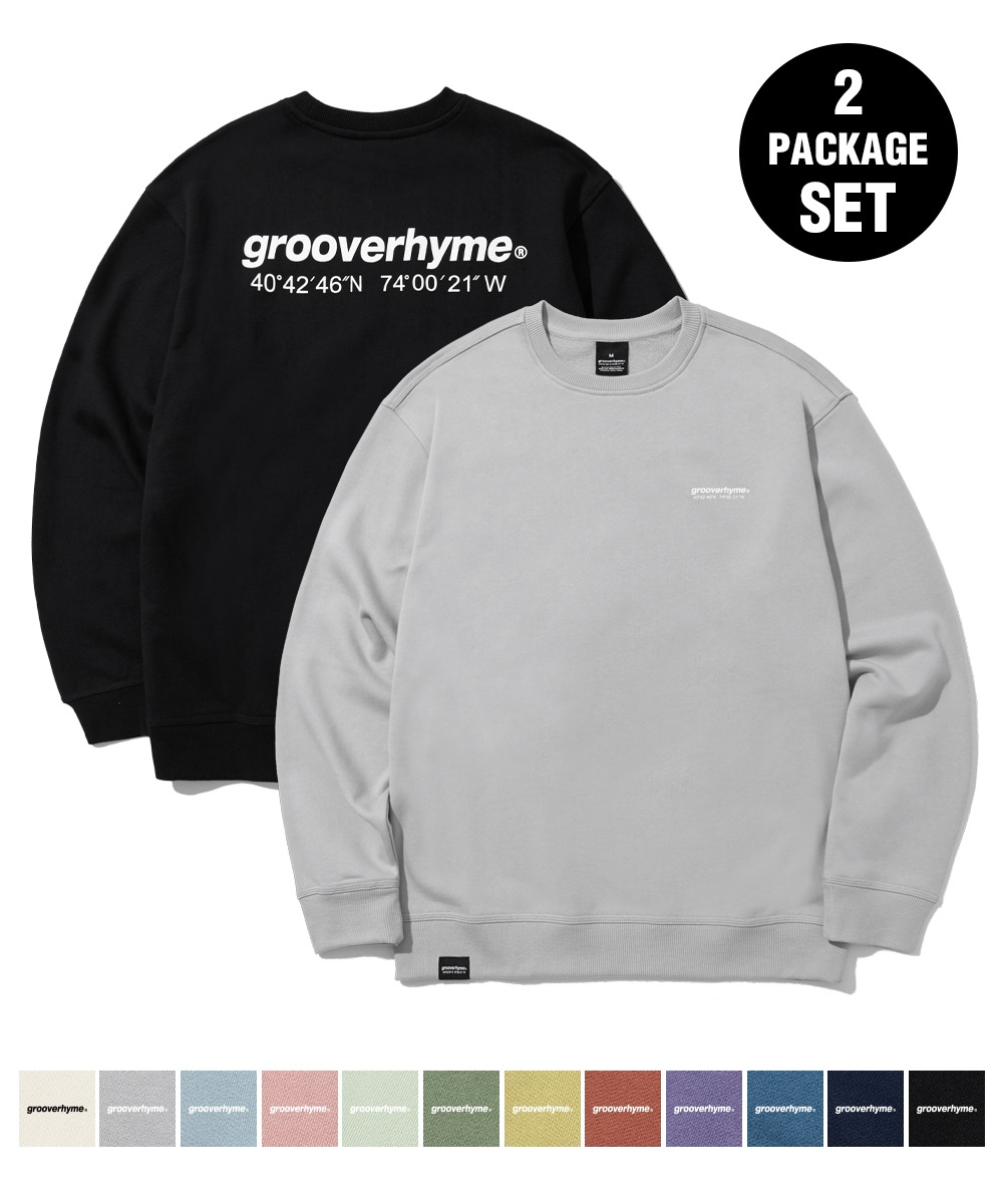 [1+1] (기모) NYC LOCATION SWEAT SHIRTS (12color) [LROWCTM712M]