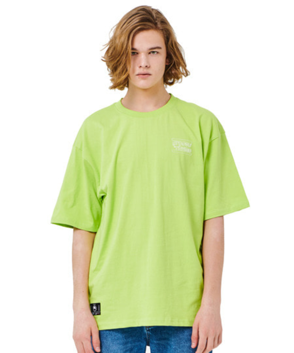(16수 오버핏) BACK BIG LOGO OVER FIT T-SHIRTS (GREEN) [GTS016H23GR]