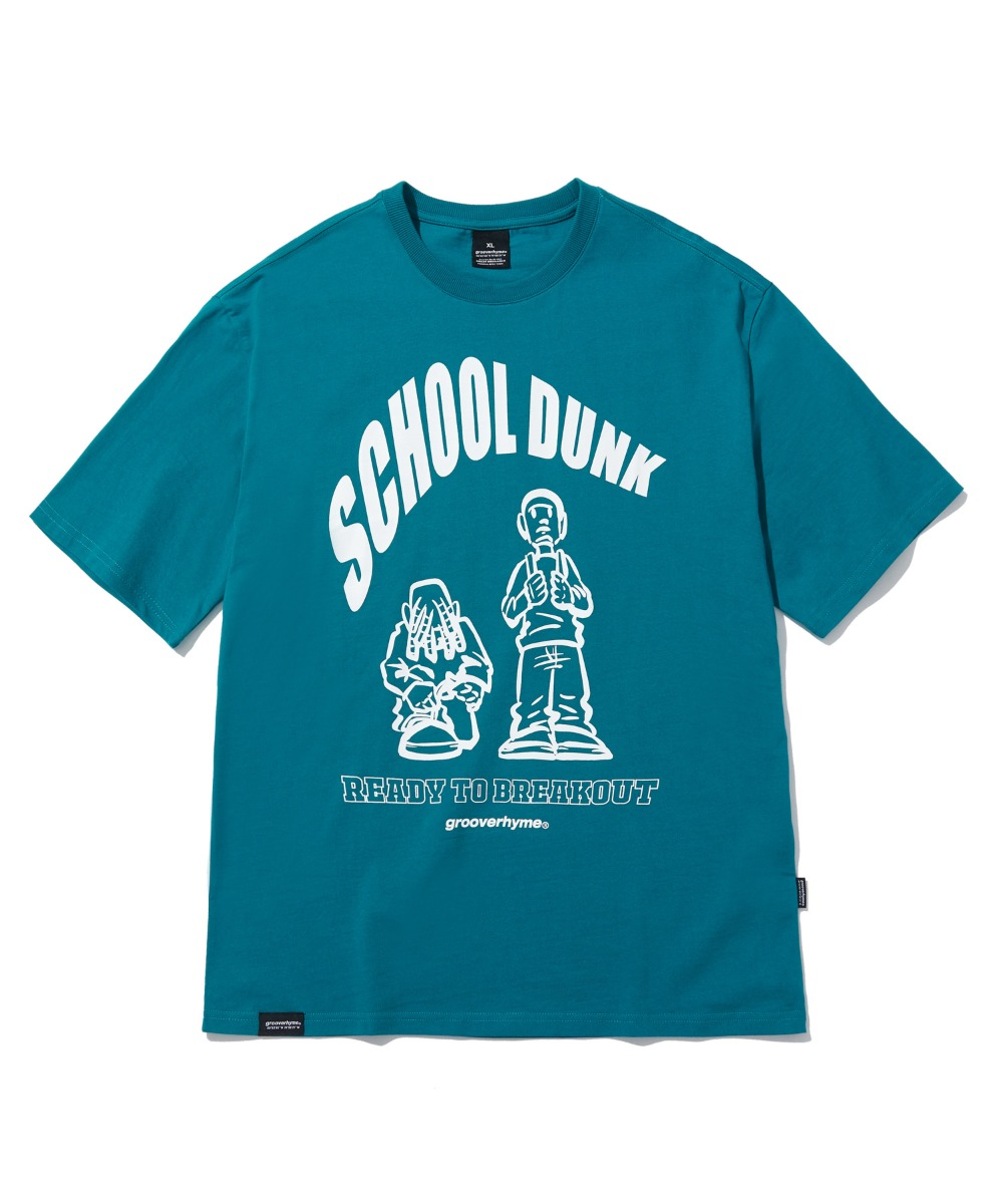 SCHOOL DUNK T-SHIRTS (BLUE GREEN) [LRPMCTA432MGRB]