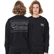 [그루브라임] OVER FIT BACK BIG LOGO MTM (BLACK) [GMT001H13BK]