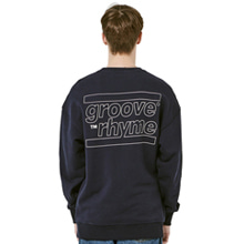 [그루브라임] OVER FIT BACK BIG LOGO MTM (NAVY) [GMT001H13NA]